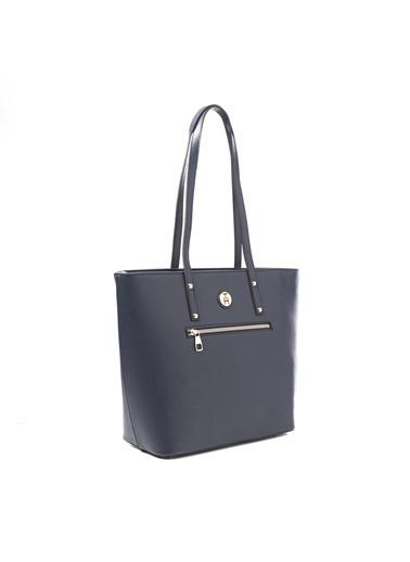 TH Bags TH Bags 2THCW2020101 Fermuarlı 2 Bölmeli Kadın Omuz Çantası Lacivert